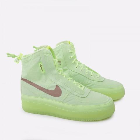 женские салатовые  кроссовки nike wmns air force 1 shell BQ6096-700 - цена, описание, фото 2
