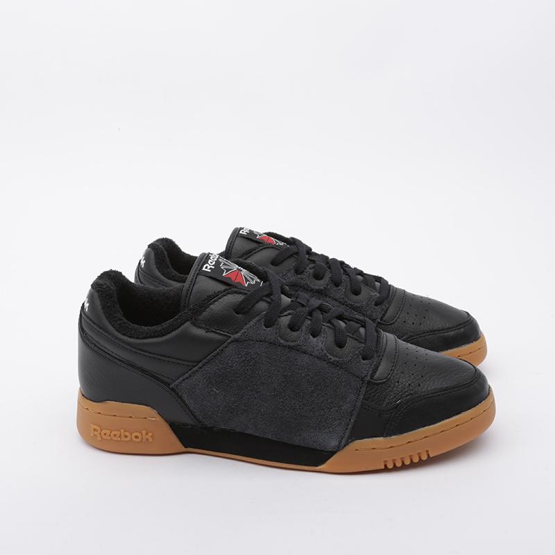 чёрные  кроссовки reebok workout plus nepenthes FW8461 - цена, описание, фото 4
