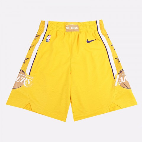 мужские желтые  шорты nike lakers city edition nba swingman shorts BV5873-728 - цена, описание, фото 1