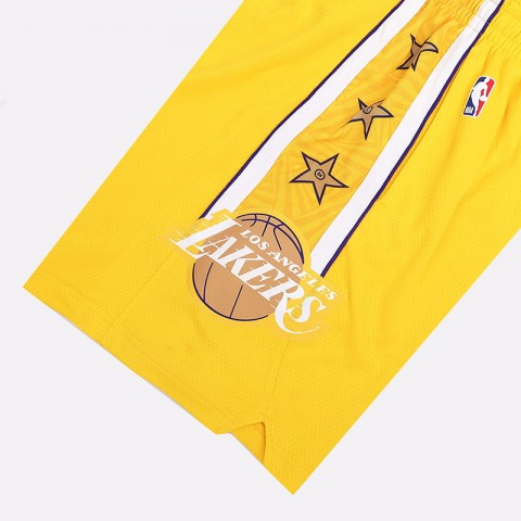 мужские желтые  шорты nike lakers city edition nba swingman shorts BV5873-728 - цена, описание, фото 3