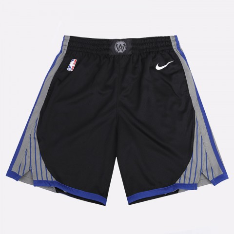 мужские черные  шорты nike warriors city edition nba swingman shorts BV5869-010 - цена, описание, фото 1