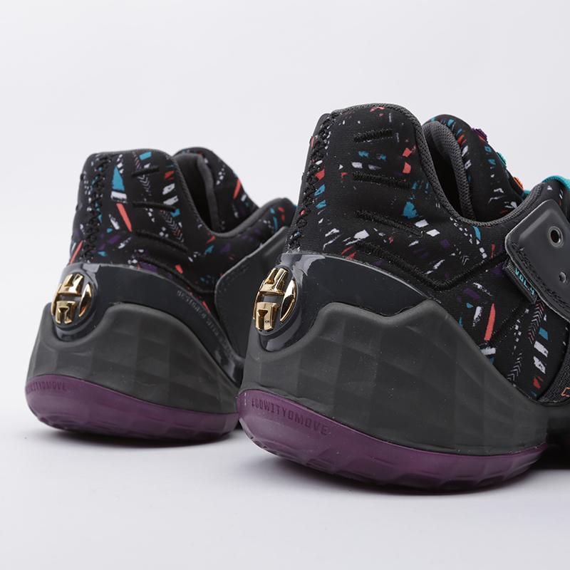 мужские чёрные  кроссовки adidas harden vol.4 EF9924 - цена, описание, фото 4