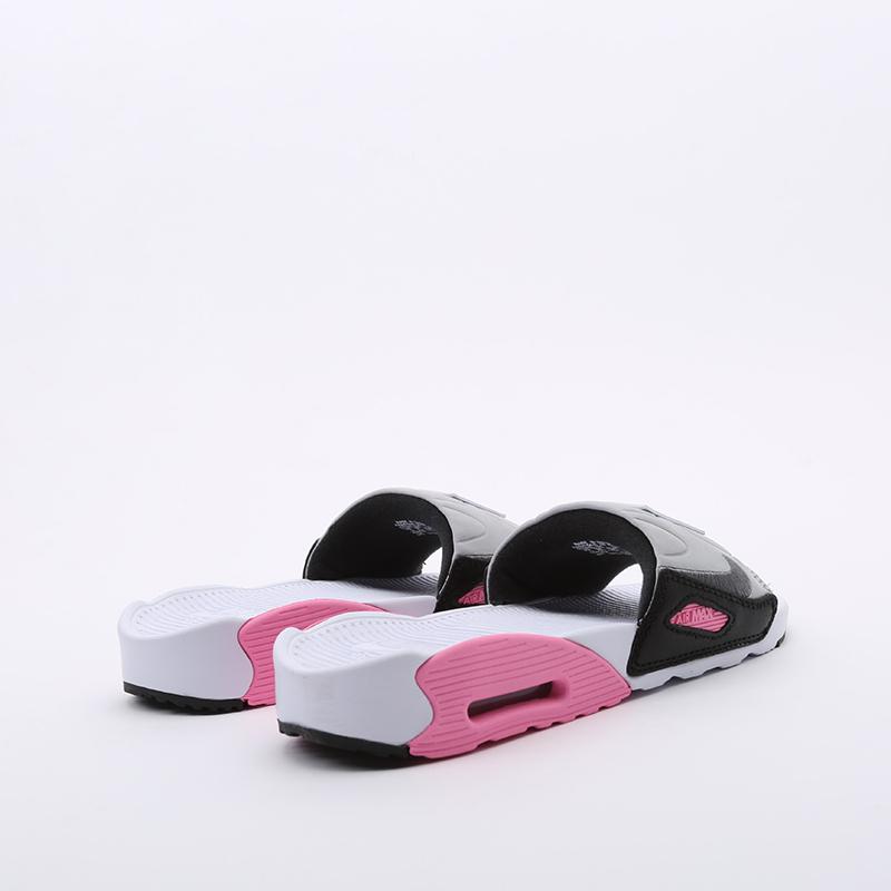 женские белые  сланцы nike wmns air max 90 slide CT5241-100 - цена, описание, фото 4