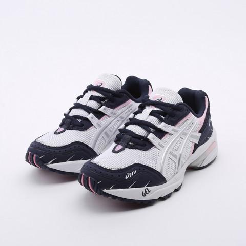женские белые, синие  кроссовки asics gel-1090 1022A289-100 - цена, описание, фото 5