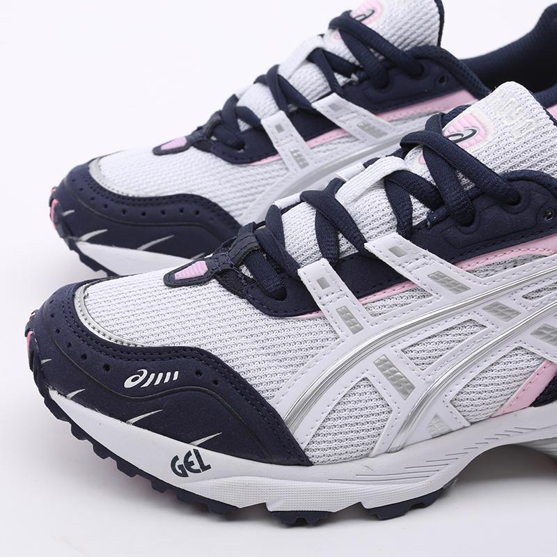 женские белые, синие  кроссовки asics gel-1090 1022A289-100 - цена, описание, фото 6