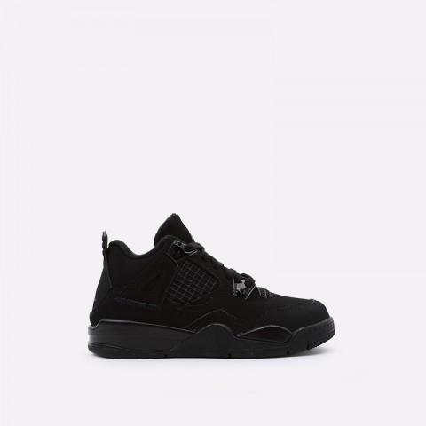 детские чёрные  кроссовки jordan 4 retro (ps) BQ7669-010 - цена, описание, фото 1