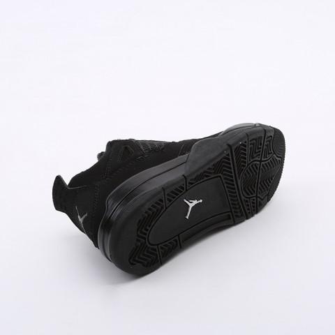 детские чёрные  кроссовки jordan 4 retro (ps) BQ7669-010 - цена, описание, фото 3