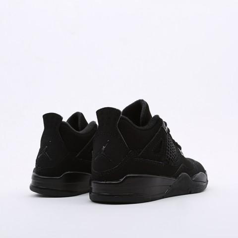 детские чёрные  кроссовки jordan 4 retro (ps) BQ7669-010 - цена, описание, фото 4