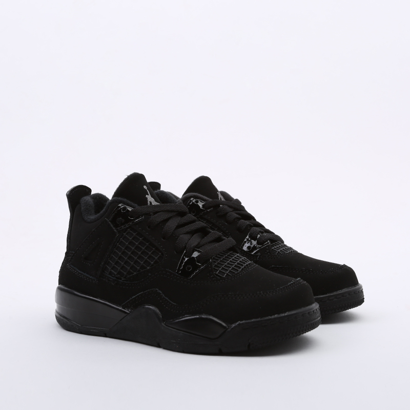 детские чёрные  кроссовки jordan 4 retro (ps) BQ7669-010 - цена, описание, фото 2