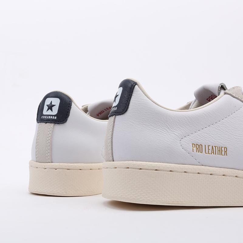 белые  кеды converse pro leather og ox 167969 - цена, описание, фото 4