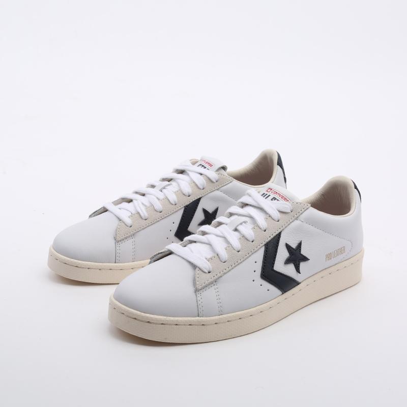 белые  кеды converse pro leather og ox 167969 - цена, описание, фото 5