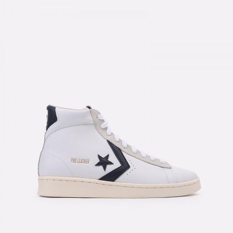 белые  кеды converse pro leather og mid 167968 - цена, описание, фото 1