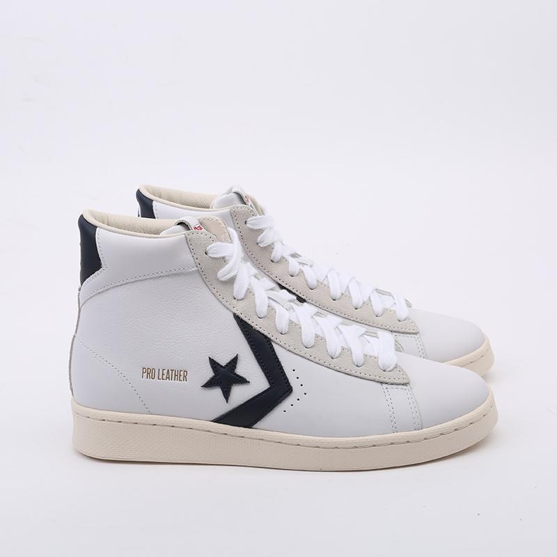 белые  кеды converse pro leather og mid 167968 - цена, описание, фото 3