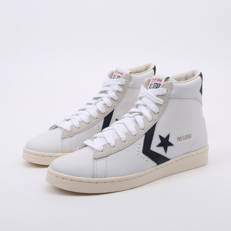 белые  кеды converse pro leather og mid 167968 - цена, описание, фото 5