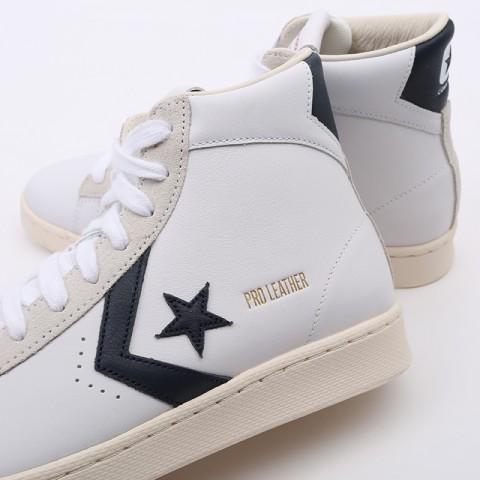 белые  кеды converse pro leather og mid 167968 - цена, описание, фото 6