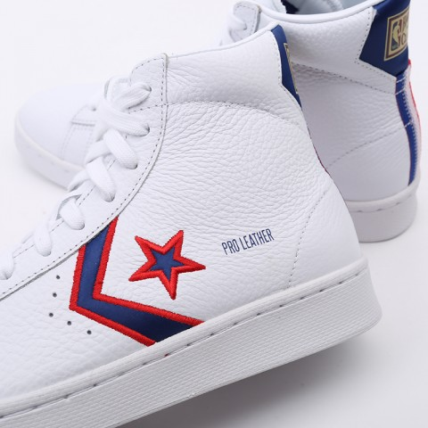 белые  кеды converse pro leather mid 167058 - цена, описание, фото 6