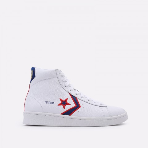 белые  кеды converse pro leather mid 167058 - цена, описание, фото 1