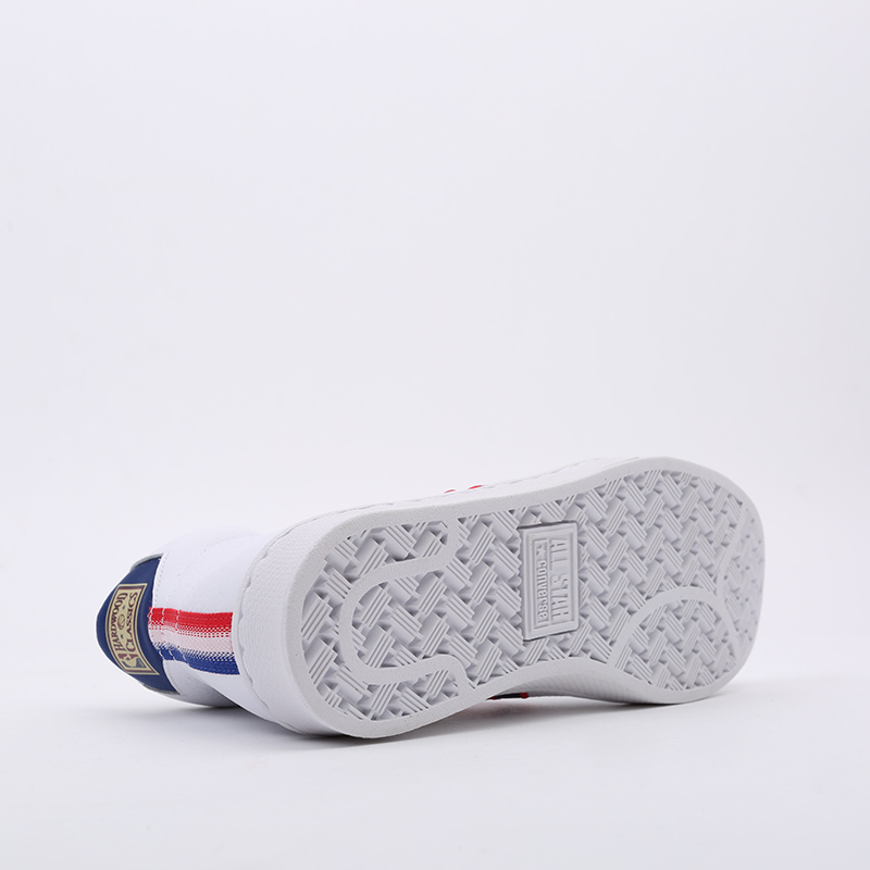 белые  кеды converse pro leather mid 167058 - цена, описание, фото 2