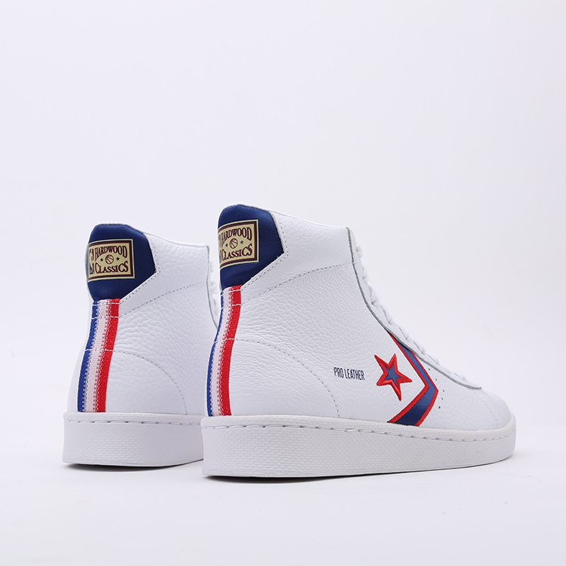 белые  кеды converse pro leather mid 167058 - цена, описание, фото 4