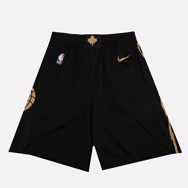 черные  шорты nike raptors city edition nba swingman shorts BV5888-010 - цена, описание, фото 1