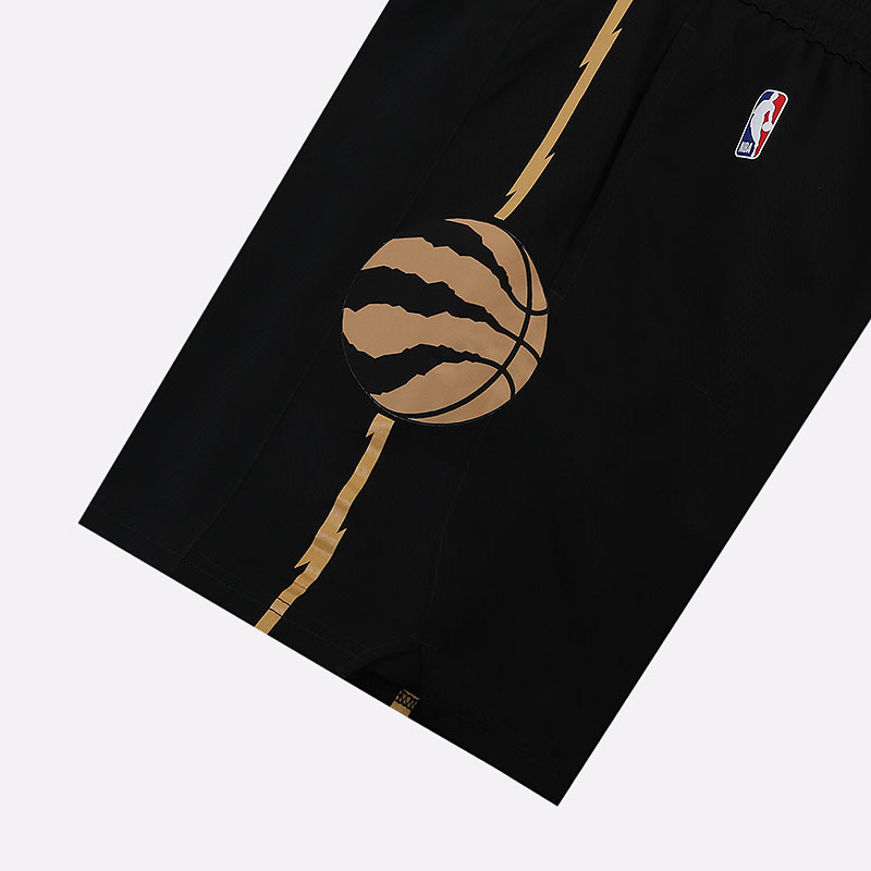 черные  шорты nike raptors city edition nba swingman shorts BV5888-010 - цена, описание, фото 2