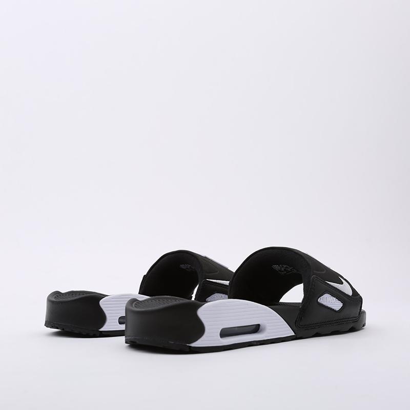 мужские чёрные  сланцы nike air max 90 slide BQ4635-002 - цена, описание, фото 4