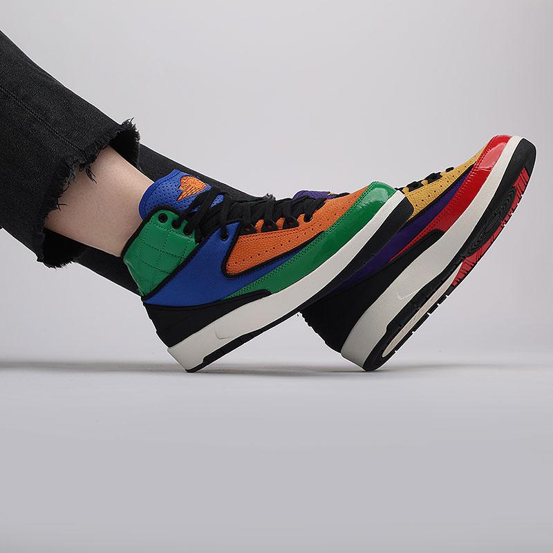 женские разноцветные  кроссовки jordan wmns 2 retro CT6244-600 - цена, описание, фото 7