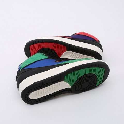 женские разноцветные  кроссовки jordan wmns 2 retro CT6244-600 - цена, описание, фото 2