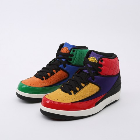 женские разноцветные  кроссовки jordan wmns 2 retro CT6244-600 - цена, описание, фото 4