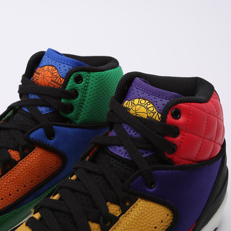 женские разноцветные  кроссовки jordan wmns 2 retro CT6244-600 - цена, описание, фото 5