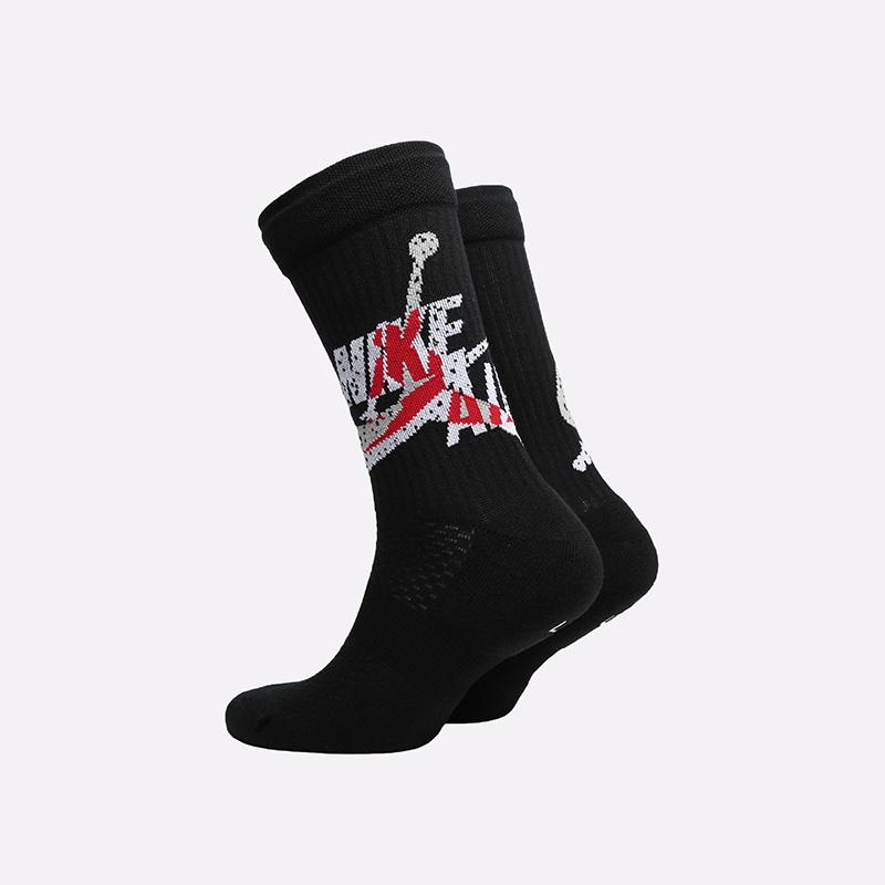 мужские чёрные  носки jordan legacy crew CU2956-010 - цена, описание, фото 2