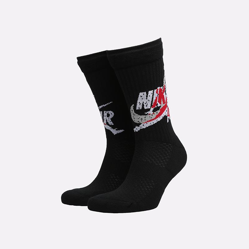 мужские чёрные  носки jordan legacy crew CU2956-010 - цена, описание, фото 1