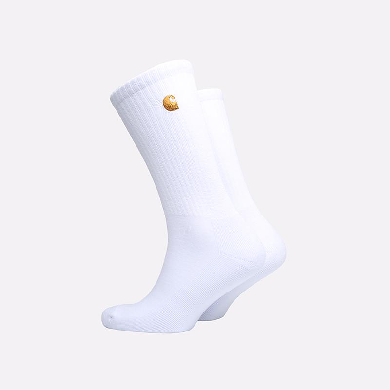мужские белые  носки carhartt wip chase socks i026527-white/gold - цена, описание, фото 2