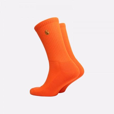 мужские оранжевые  носки carhartt wip chase socks i026527-clockwork/gold - цена, описание, фото 2