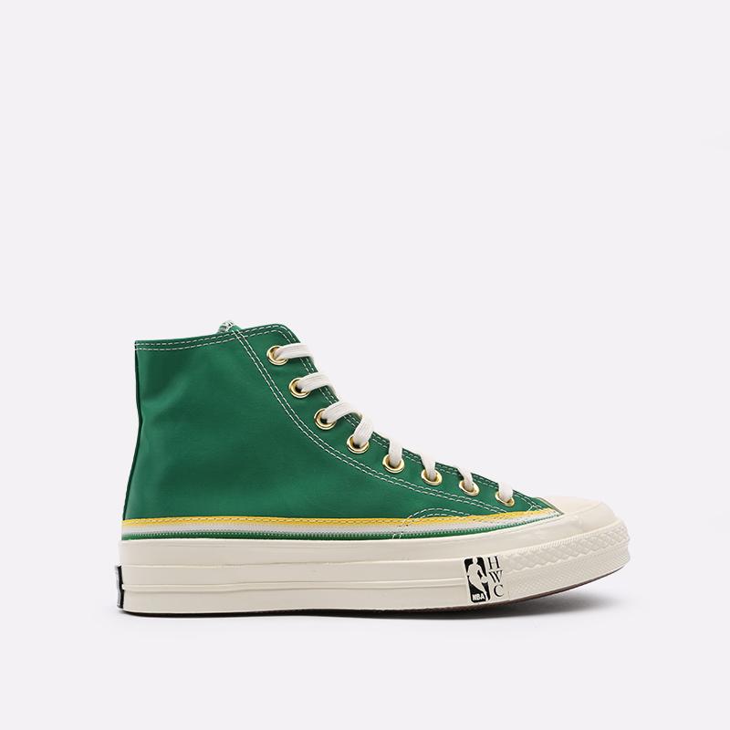 зелёные  кеды converse chuck 70 hi 167060 - цена, описание, фото 1