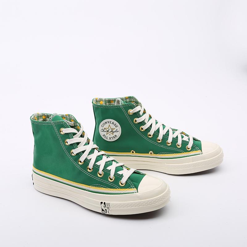 зелёные  кеды converse chuck 70 hi 167060 - цена, описание, фото 2