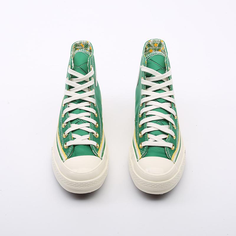 зелёные  кеды converse chuck 70 hi 167060 - цена, описание, фото 5