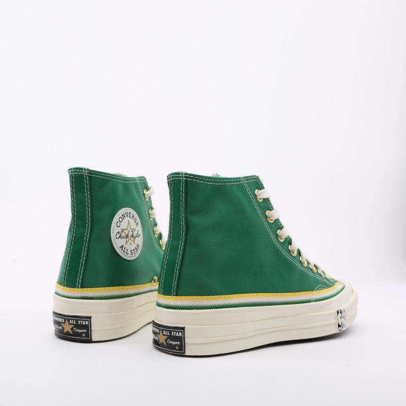 зелёные  кеды converse chuck 70 hi 167060 - цена, описание, фото 4