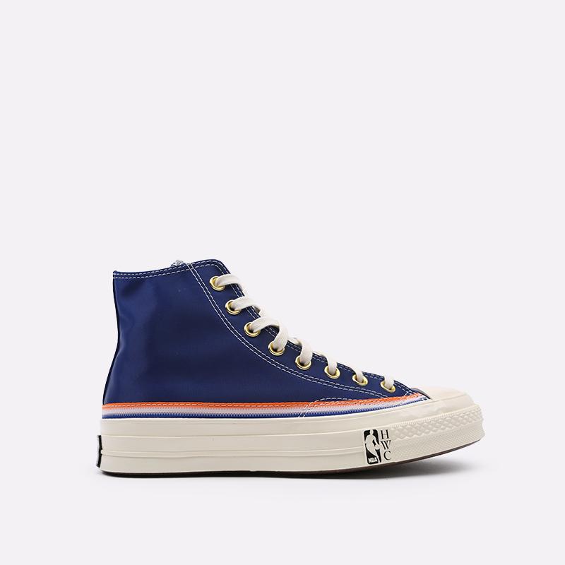 синие  кеды converse chuck 70 hi 166815 - цена, описание, фото 1