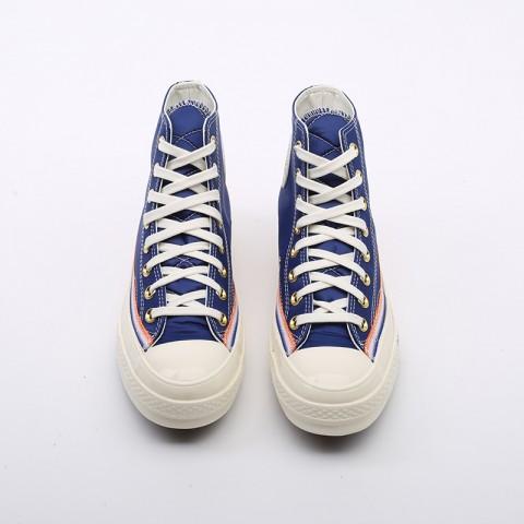 синие  кеды converse chuck 70 hi 166815 - цена, описание, фото 5