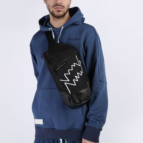 черную  сумка puma basketball cross bag 7767201 - цена, описание, фото 1