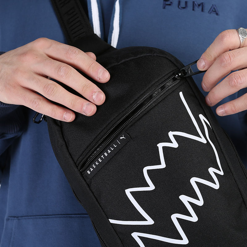 черную  сумка puma basketball cross bag 7767201 - цена, описание, фото 2