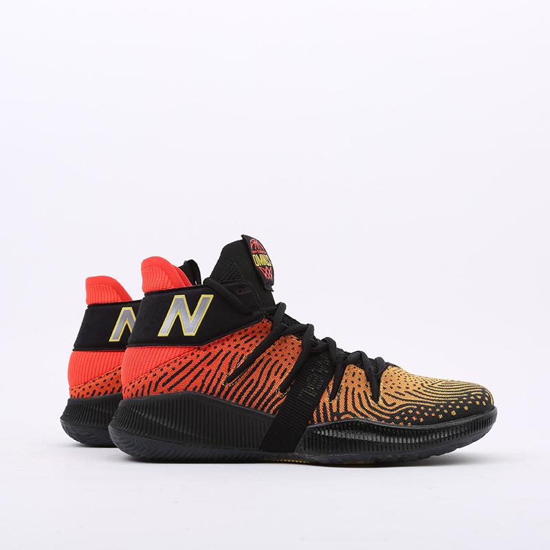 мужские чёрные, оранжевые  кроссовки new balance omn1s sundown BBOMNXA1/D - цена, описание, фото 2