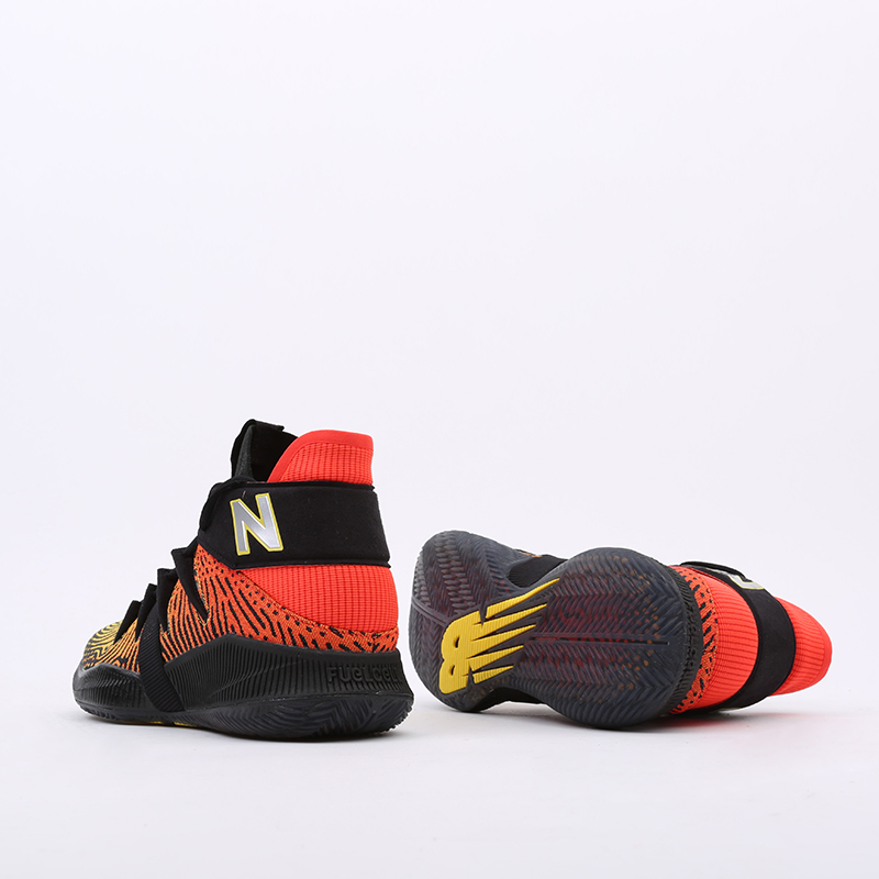 мужские чёрные, оранжевые  кроссовки new balance omn1s sundown BBOMNXA1/D - цена, описание, фото 10
