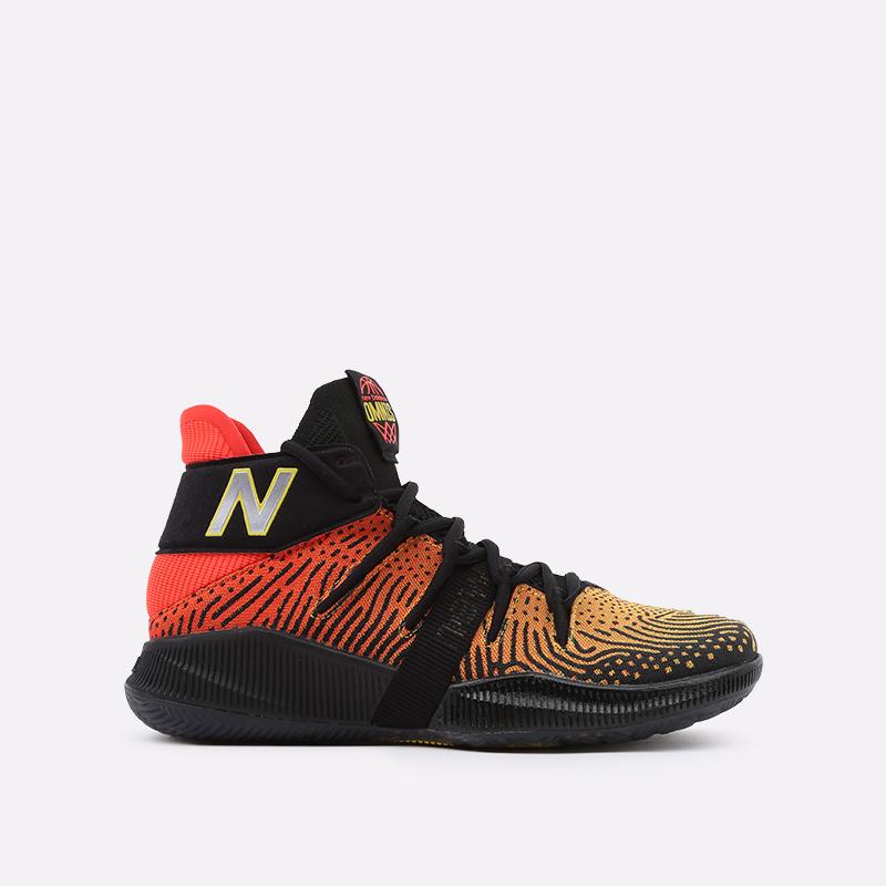 мужские чёрные, оранжевые  кроссовки new balance omn1s sundown BBOMNXA1/D - цена, описание, фото 1