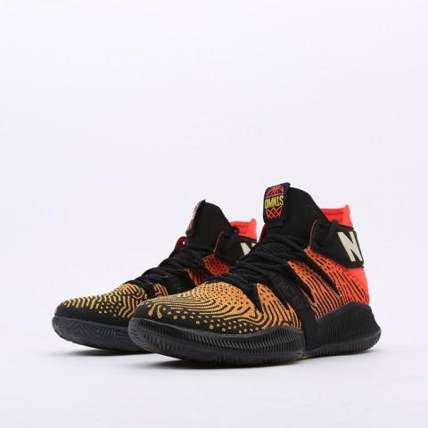 мужские чёрные, оранжевые  кроссовки new balance omn1s sundown BBOMNXA1/D - цена, описание, фото 4