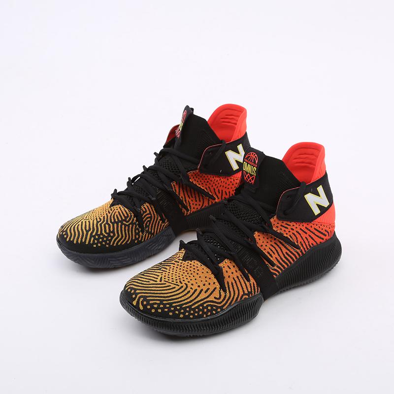 мужские чёрные, оранжевые  кроссовки new balance omn1s sundown BBOMNXA1/D - цена, описание, фото 9