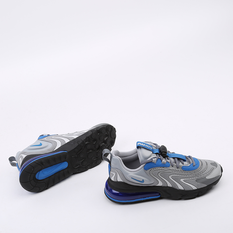 мужские серые  кроссовки nike air max 270 react eng CJ0579-001 - цена, описание, фото 2