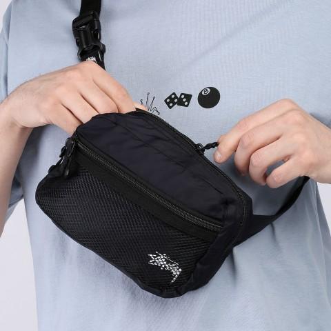 черную  сумка stussy light weight waist bag 134210-black - цена, описание, фото 2