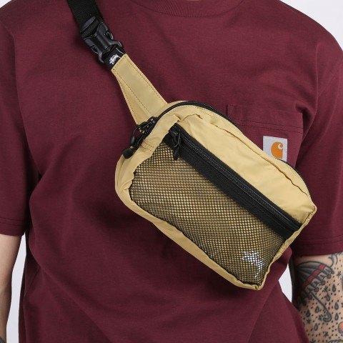 бежевую  сумка stussy light weight waist bag 134210-gold - цена, описание, фото 2